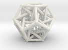Dodecahedron & 5 tetrahedrons in White Strong & Flexible