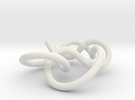 Prime Knot 6.1 in White Strong & Flexible