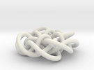 Prime Knot d4.122 in White Strong & Flexible