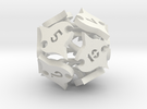Tocrax Twelve-sided Die in White Strong & Flexible
