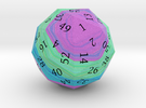 Purple, Green, and Blue d60 in Full Color Sandstone
