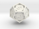 Open 12-sided Die in White Strong & Flexible