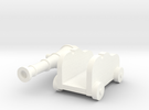 Martian Large Gun 28mm in White Strong & Flexible Polished