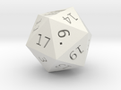 D20 Who Shrinked in White Strong & Flexible