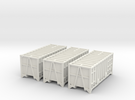 3x 20ft Manchester Binliner Containers N Gauge in White Strong & Flexible