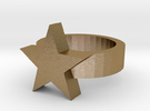 star ring in Polished Gold Steel