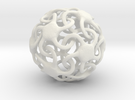 Skinny starfish-o-hedron in White Strong & Flexible