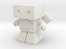 Sonic Boom Robot 1.45 inches tall  (remodeled) in White Strong & Flexible