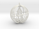 Christmas Tree Spinner Bauble (moving part) decora in White Strong & Flexible