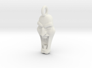 Mad Face - Pendant -v1d Side-Loop in White Strong & Flexible