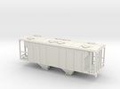 PS2 2 Bay Covered Hopper  Body TT Scale in White Strong & Flexible