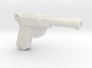 Luger Pistol in White Strong & Flexible