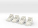 Classics seeker footplates- two sets in White Strong & Flexible