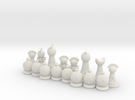 Spartan Chess™ Set (Spartan Side) in White Strong & Flexible