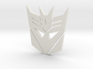 decepticon logo in White Strong & Flexible