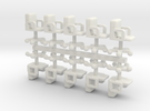 15mm Swivel Chairs x10 in White Strong & Flexible