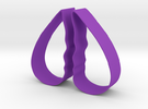 Cookie Cutter - Broken Heart/Talking Head Design in Purple Strong & Flexible Polished
