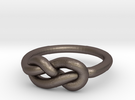 Infinity Knot-sz15 in Stainless Steel
