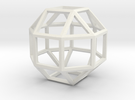 "4"" rhombicuboctahedron  in White Strong & Flexible"