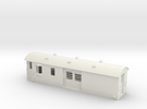 30ft Guards Van, New Zealand, (S Scale, 1:64) in White Strong & Flexible
