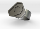 Command and Conquer Nod Ring in Raw Silver