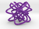 Lissajous Knot Knot (5, 6, 7), (3, 37) in Purple Strong & Flexible Polished