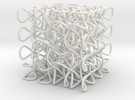 Celtic Knot 3D, seed 12 in White Strong & Flexible