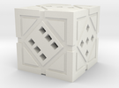 Hollow Holocron D6 in White Strong & Flexible