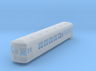 N gauge 55ft interurban combine arch roof in Frosted Ultra Detail