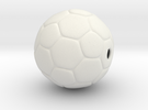 Soccer Ball Bead in White Strong & Flexible