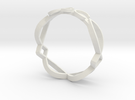 Ichthus Fish Ring in White Strong & Flexible