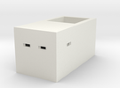 Type 23 Pillbox 4mm Scale in White Strong & Flexible