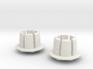Bar Ends in White Strong & Flexible
