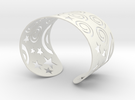 Spiral Bracelet in White Strong & Flexible