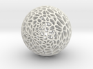 Voronoi_Sphere_big in White Strong & Flexible