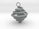 Spiral Earring by Ben Hart in Polished Metallic Plastic