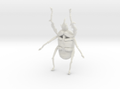 Giant Beetle - Goliath 7cm - Scarab in White Strong & Flexible