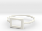Midi Ring, chic and subtle, 14mm inner diameter in White Strong & Flexible