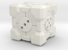 Companion Cube d6 Alternate in White Strong & Flexible