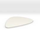 Guitar Pick 0,75 mm in White Strong & Flexible