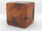 Cube Planet : Mars, 1 inch in Full Color Sandstone