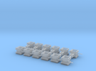 Guide Chute for Rail Train- 12 pc. in Frosted Ultra Detail