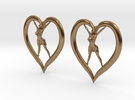 Joyful In Heart Earrings (wearing skirt) in Raw Brass