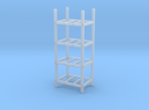 Steel Storage Racks 1/87(HO Scale) - 4 High in Frosted Ultra Detail