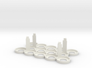 Citadel Bottle Holder 5x3 With Support Pillars in White Strong & Flexible