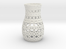 Geometric Tealight Sleeve - Large in White Strong & Flexible
