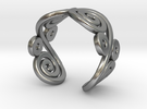 2 Spirals and ovals ring in Raw Silver