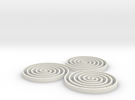 Spirals - 2 inch in White Strong & Flexible