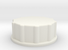 Storage Container End Cap in White Strong & Flexible