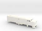 Z Scale Alco FA-1 Shell in White Strong & Flexible Polished